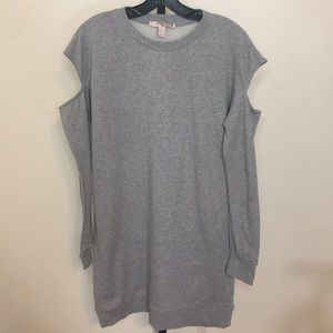 NWOT Gray F21 Cut Out Sweater Dress